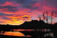 Lac de l'arena et le Rocher de Roquebrune/Argens (10Kms)