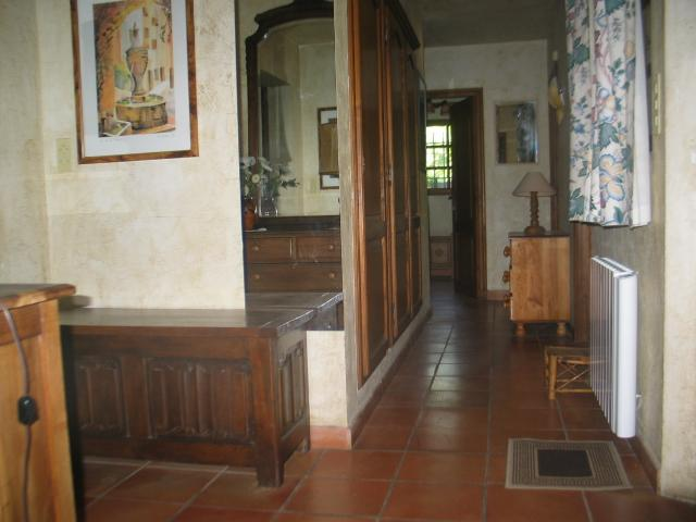 Near the door, to go to the west bed-room